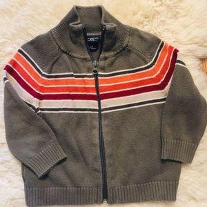 Cherokee Olive Green Zip Sweater 18M